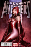 Cover for Uncanny Avengers (Marvel, 2012 series) #1 [Adi Granov Scarlet Witch variant]