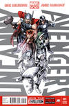 Cover for Uncanny Avengers (Marvel, 2012 series) #1 [Partial Black And White Cover]