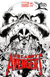 Cover for Uncanny Avengers (Marvel, 2012 series) #1 [The Lair Black and White Variant]