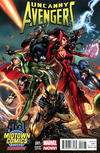 Cover for Uncanny Avengers (Marvel, 2012 series) #1 [Midtown Comics Exclusive Variant Cover by J. Scott Campbell]