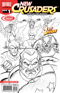 Cover Thumbnail for New Crusaders (Archie, 2012 series) #1 [Sketch Variant by Mike Norton]