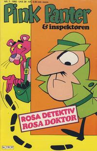 Cover Thumbnail for Pink Panter (Semic, 1977 series) #7/1982