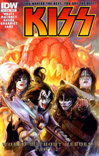 Cover Thumbnail for Kiss (IDW, 2012 series) #4 [Cover B by Xermánico]