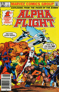 Cover Thumbnail for Alpha Flight (Marvel, 1983 series) #1 [Canadian Newsstand Edition]
