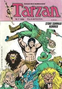 Cover Thumbnail for Tarzan (Atlantic Förlags AB, 1977 series) #7/1986