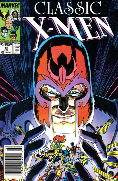 Cover for Classic X-Men (Marvel, 1986 series) #18 [Newsstand Edition]