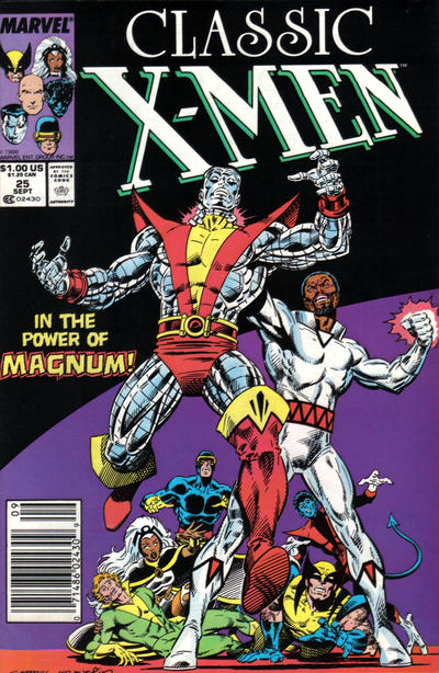 Cover for Classic X-Men (Marvel, 1986 series) #25 [Direct Edition]