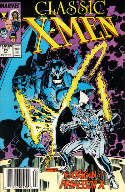 Cover for Classic X-Men (Marvel, 1986 series) #23 [Newsstand Edition]