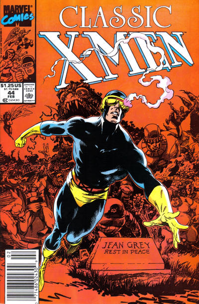 Cover for Classic X-Men (Marvel, 1986 series) #44 [Direct Edition]