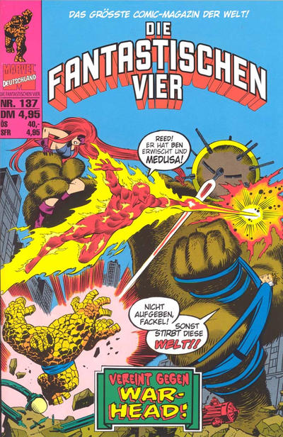 Cover for Die Fantastischen Vier (Panini Deutschland, 1999 series) #137