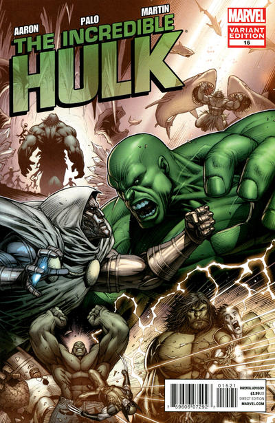 Cover for The Incredible Hulk (Marvel, 2011 series) #15 [Keown]