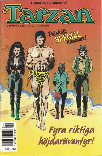 Cover for Tarzan (Atlantic Förlags AB, 1977 series) #8-9/1990