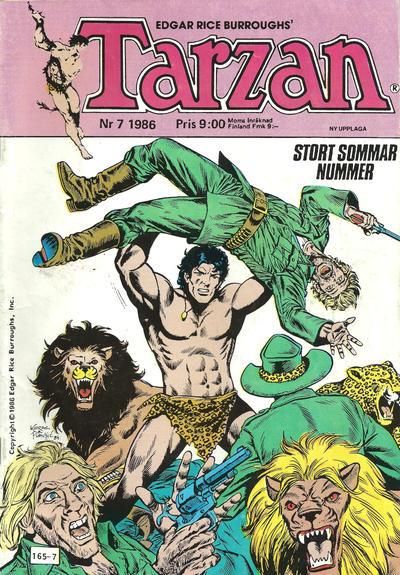 Cover for Tarzan (Atlantic Förlags AB, 1977 series) #7/1986