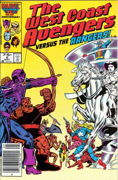 Cover for West Coast Avengers (Marvel, 1985 series) #8 [Newsstand Edition]