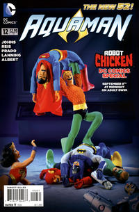 """Cover for Aquaman (DC, 2011 series) #12 [""""Robot Chicken"""" Photo Variant Cover]"""