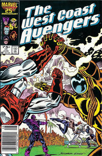 Cover for West Coast Avengers (Marvel, 1985 series) #11 [Newsstand Edition]