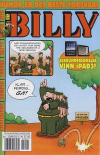 Cover Thumbnail for Billy (Hjemmet / Egmont, 1998 series) #21/2012