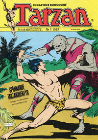 Cover Thumbnail for Tarzan (Atlantic Förlags AB, 1977 series) #1/1987