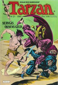 Cover Thumbnail for Tarzan (Atlantic Förlags AB, 1977 series) #21/1980