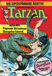 Cover Thumbnail for Tarzan (Atlantic Förlags AB, 1977 series) #15/1981