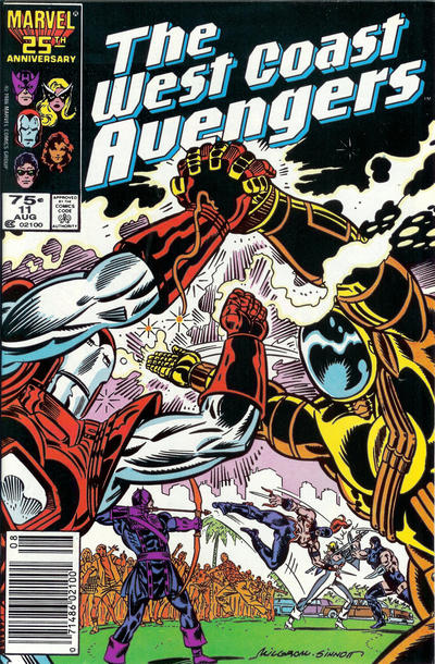 Cover for West Coast Avengers (Marvel, 1985 series) #11 [Direct Edition]