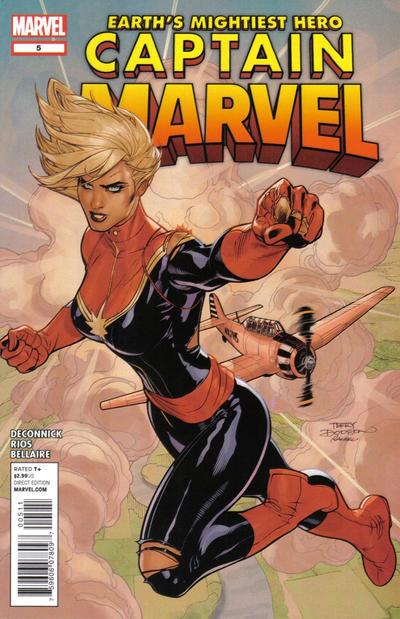 Cover for Captain Marvel (Marvel, 2012 series) #5 [Breast Cancer Awareness Susan G. Komen Variant Cover by Joe Quinones]