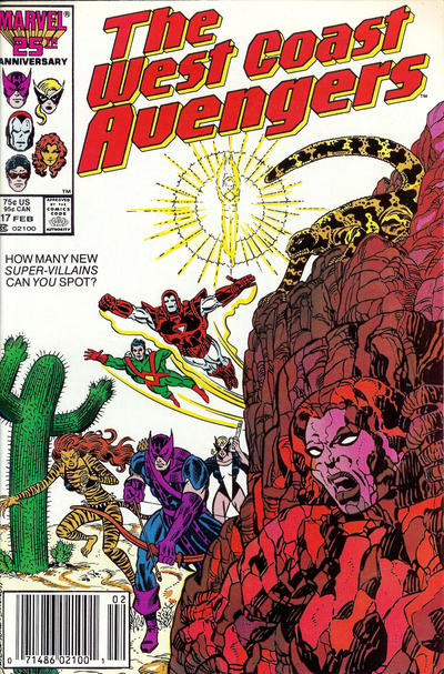 Cover for West Coast Avengers (Marvel, 1985 series) #17 [Newsstand Edition]