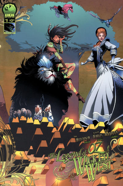 Cover for Legend of Oz: The Wicked West (Big Dog Ink, 2012 series) #1 [Cover B - Alisson Borges]
