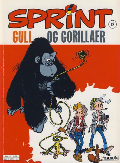 Cover for Sprint (Semic, 1986 series) #12 - Gull og gorillaer