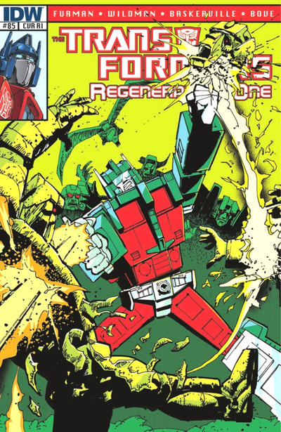 Cover for Transformers: Regeneration One (IDW, 2012 series) #85 [Cover A - Andrew Wildman]