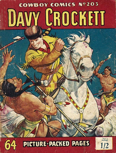 Cover for Cowboy Comics (Amalgamated Press, 1950 series) #203