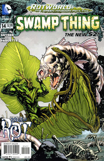 Cover for Swamp Thing (DC, 2011 series) #14