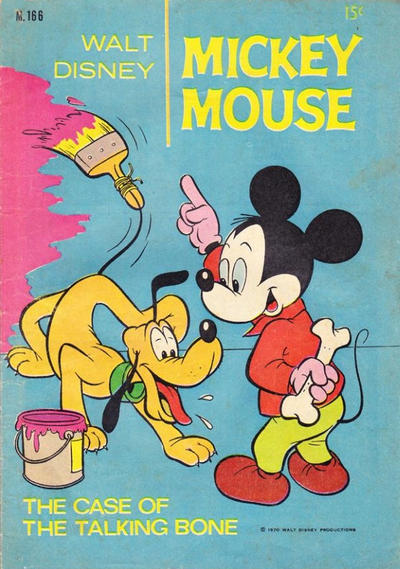 Cover for Walt Disney's Mickey Mouse (W. G. Publications; Wogan Publications, 1956 series) #166