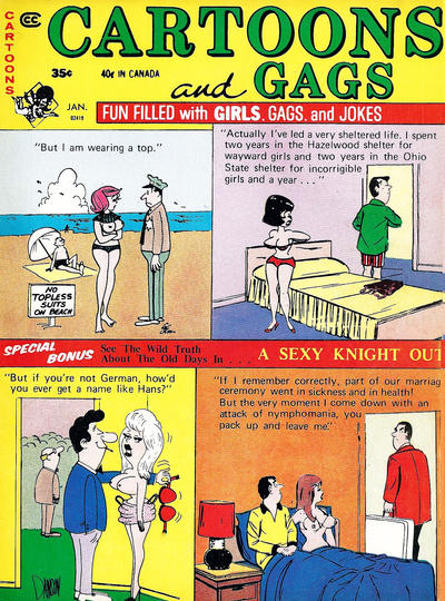 Cover for Cartoons and Gags (Marvel, 1959 series) #v19#1