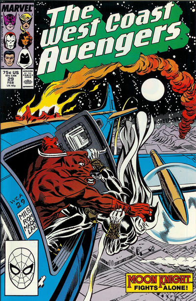 Cover for West Coast Avengers (Marvel, 1985 series) #29 [Newsstand Edition]