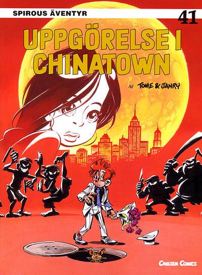 Cover for Spirous äventyr (Bonnier Carlsen, 1993 series) #41 - Uppgörelse i Chinatown