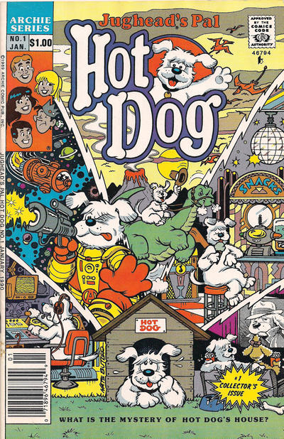 Cover for Jughead's Pal Hot Dog (Archie, 1990 series) #1 [Newsstand Edition]