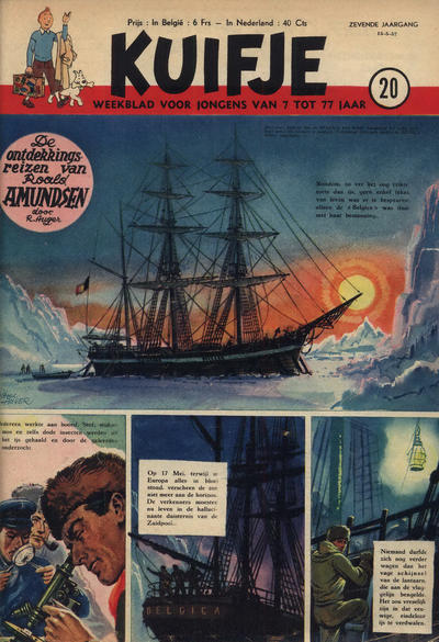 Cover for Kuifje (Le Lombard, 1946 series) #20/1952