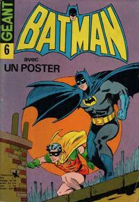 Cover Thumbnail for Batman Géant (Sage - Sagédition, 1972 series) #6