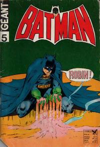 Cover Thumbnail for Batman Géant (Sage - Sagédition, 1972 series) #5