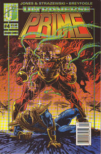 Cover Thumbnail for Prime (Malibu, 1993 series) #4 [Prime Cover - Newsstand]