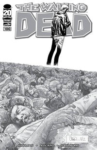 Cover for The Walking Dead (Image, 2003 series) #100 [Comixology Black & White Variant by Ryan Ottley]