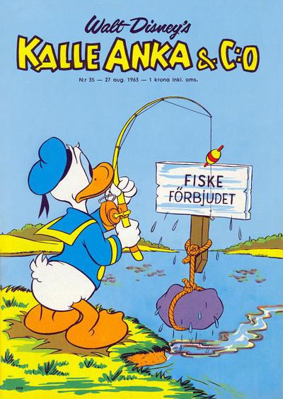 Cover for Kalle Anka & C:o (Hemmets Journal, 1957 series) #35/1963