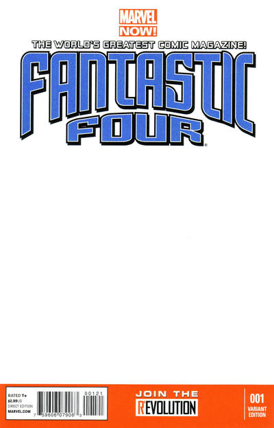Cover for Fantastic Four (Marvel, 2013 series) #1 [Variant Edition - Blank Cover]