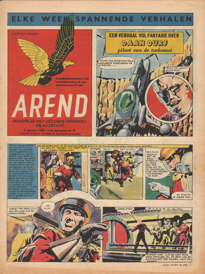 Cover for Arend (Bureau Arend, 1955 series) #Jaargang 9/15