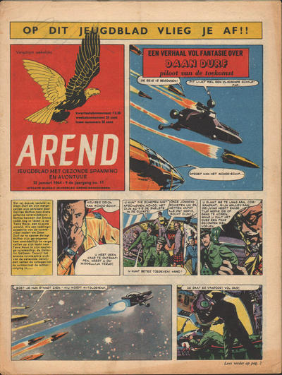 Cover for Arend (Bureau Arend, 1955 series) #Jaargang 9/17