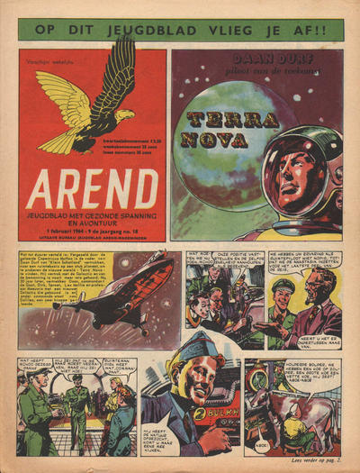 Cover for Arend (Bureau Arend, 1955 series) #Jaargang 9/18