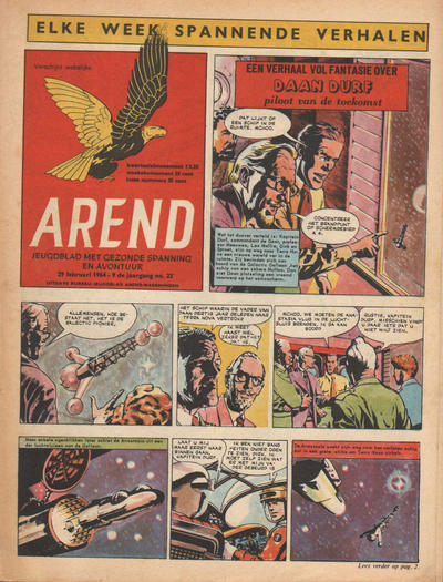 Cover for Arend (Bureau Arend, 1955 series) #Jaargang 9/22