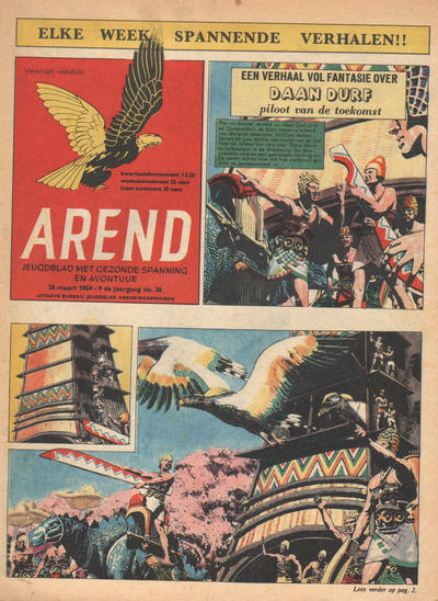 Cover for Arend (Bureau Arend, 1955 series) #Jaargang 9/26