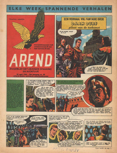 Cover for Arend (Bureau Arend, 1955 series) #Jaargang 9/30